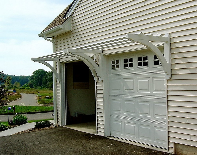 pergola over garage door