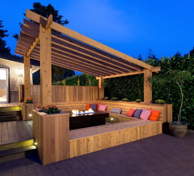 Pergola Bench Seat Designs 5