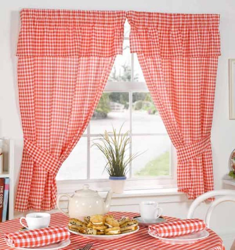 Best Trellis Kitchen Curtains 3