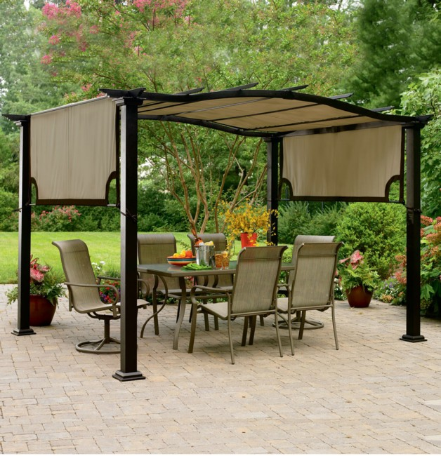 pergola canopy winds cover replacement for bay garden treasures arrow gazebo
