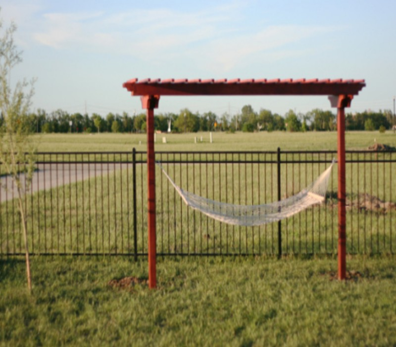 How To Make a Hammock Arbor 4