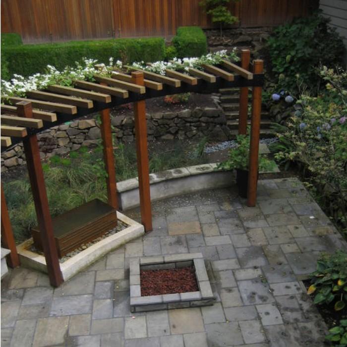 Outdoor Pergola Benches 1