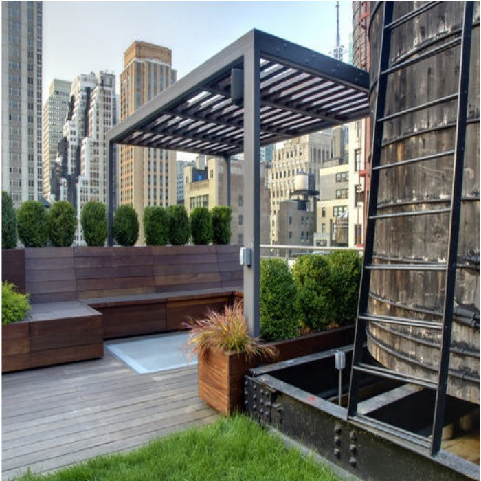 Outdoor Pergola Benches 2