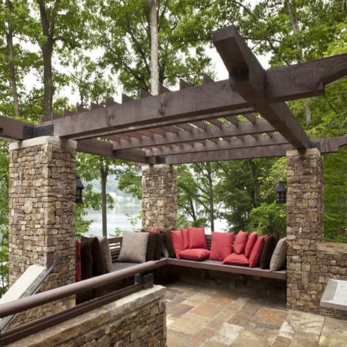 Outdoor Pergola Benches 6