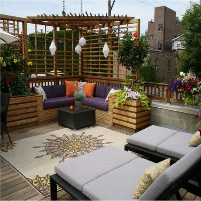 Outdoor Pergola Benches 7
