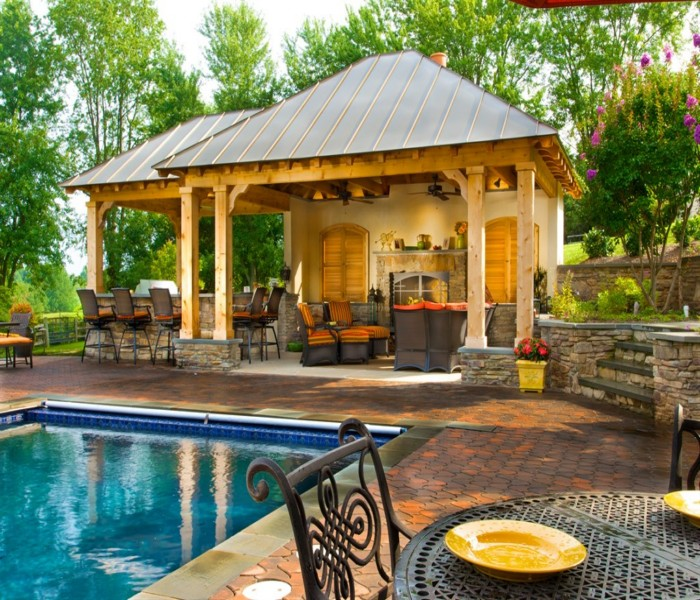 Eat And Dine In Outdoor Backyard Gazebo