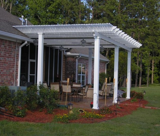 garden treasures white pergola 10
