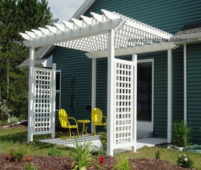 garden treasures white pergola 3