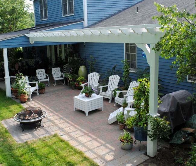 garden treasures white pergola 4