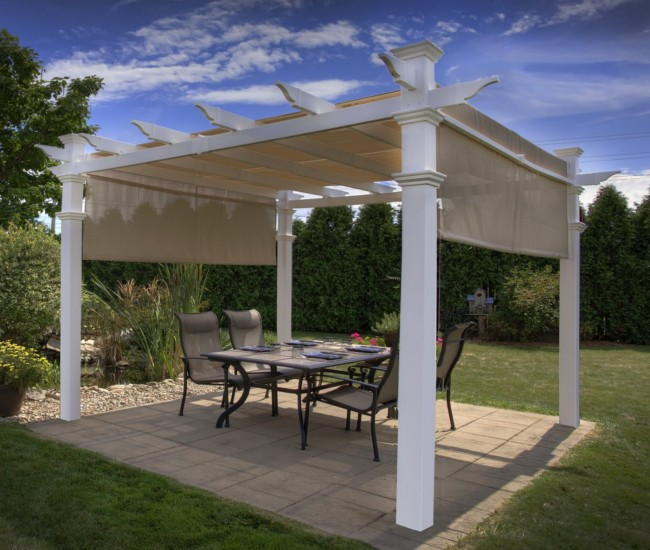 garden treasures white pergola 5
