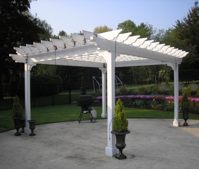 garden treasures white pergola 6