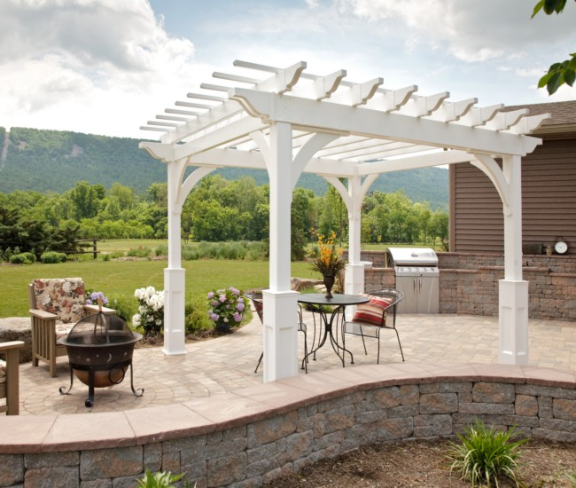 garden treasures white pergola 9