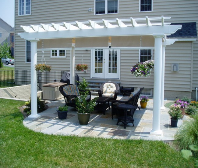 garden treasures white pergola