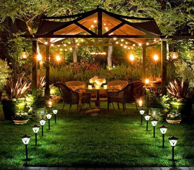 Outdoor Gazebo Lighting 3