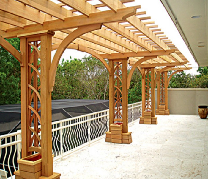 Trellis Over a Deck