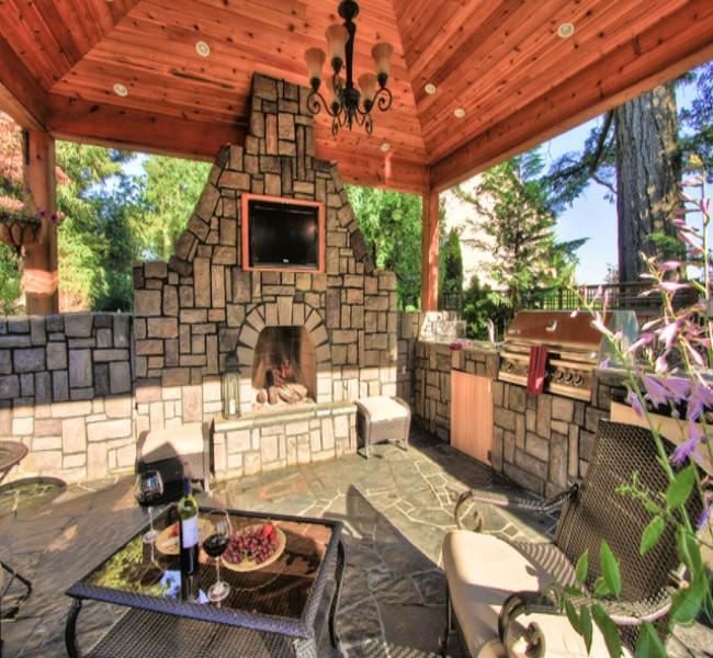 Gazebo Fireplace Ideas 1