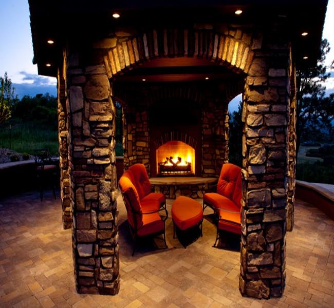 Gazebo Fireplace Ideas 5