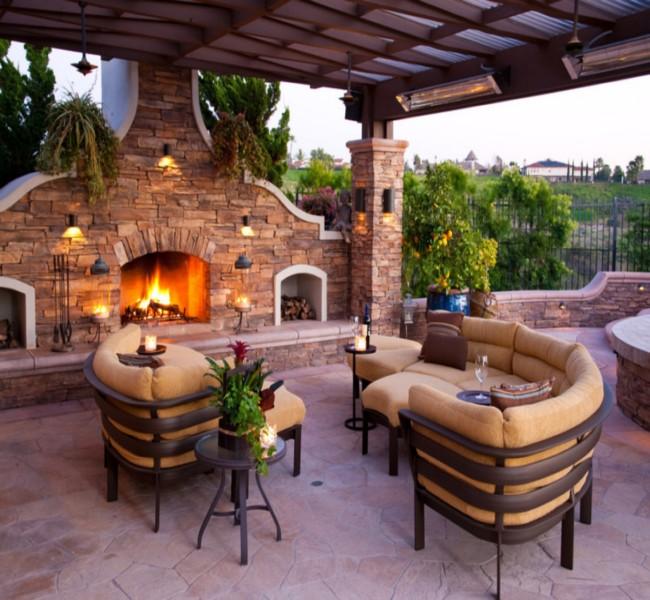 Gazebo Fireplace Ideas 6