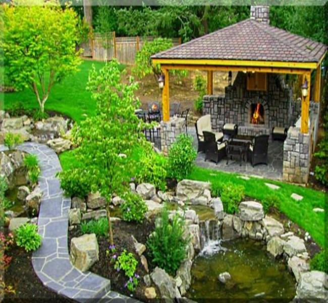 Gazebo Fireplace Ideas 7