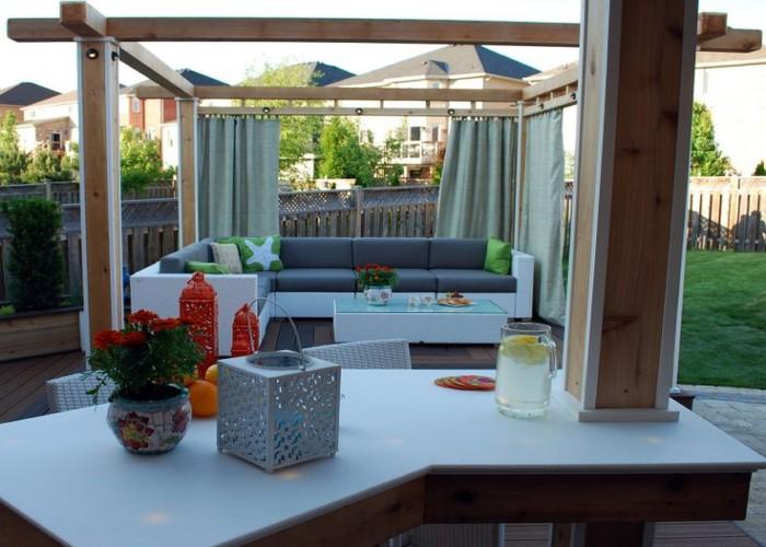 Outdoor Pergola Lounge 1