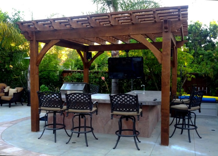 Outdoor Pergola Lounge 11