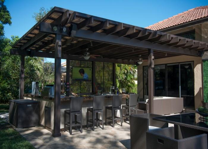 Outdoor Pergola Lounge 2