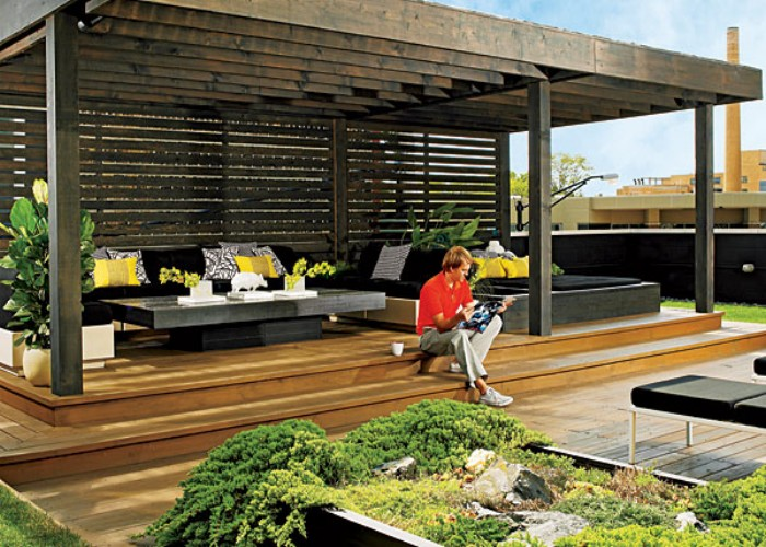 Outdoor Pergola Lounge 9