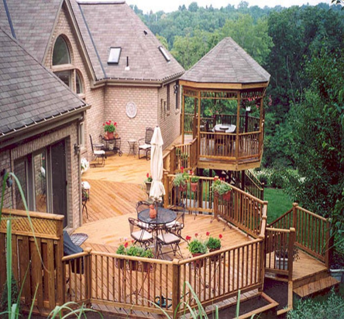 Gazebo Decks In Fantastic Shapes To Enhance Beauty