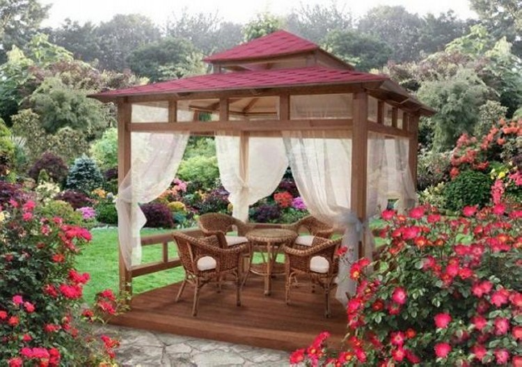 Gazebo Decorating Styles for Gazebos Loving People