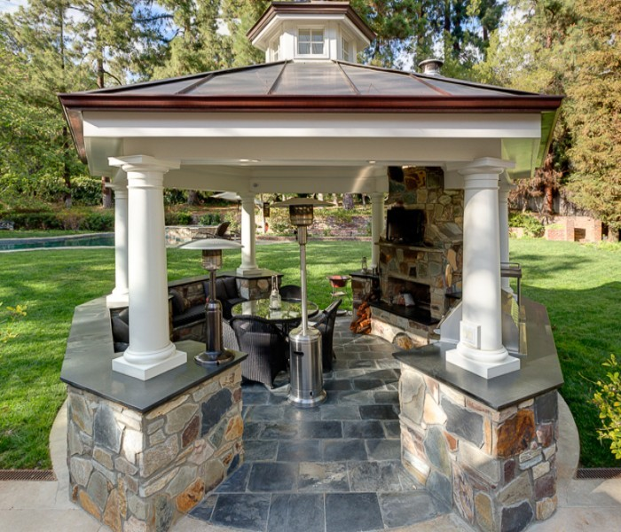 Have You Ever Cooked Out in Outdoor Gazebo Kitchen ?