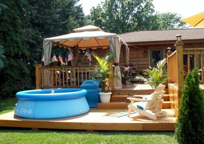 Gazebo deck ideas pergola gazebos for Deck with gazebo