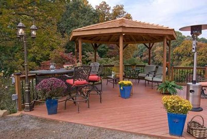Gazebo Deck on Backyard 11