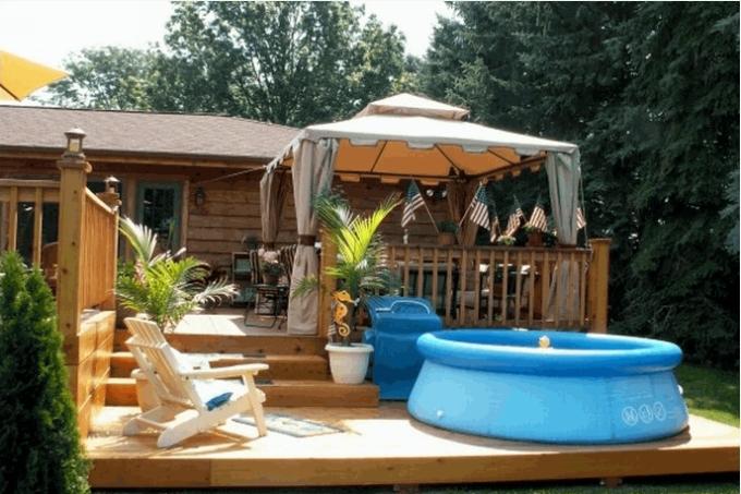 Gazebo Deck on Backyard 3
