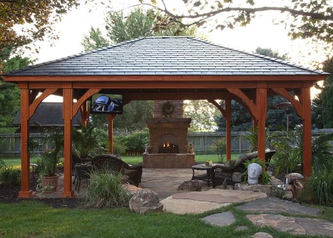 Gazebo Deck on Backyard 5