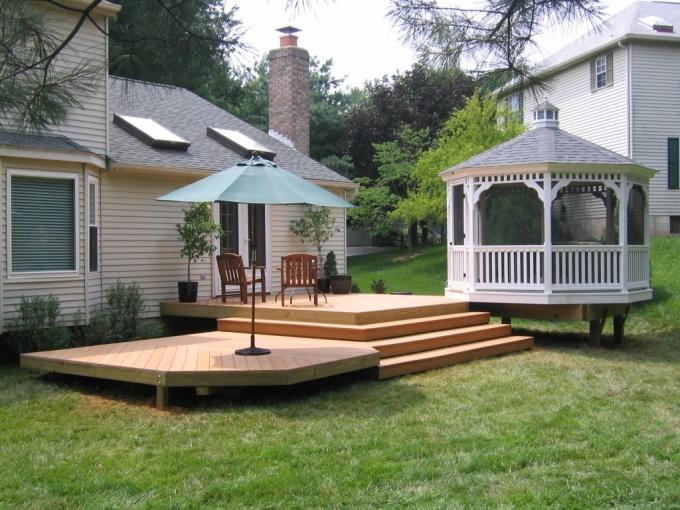 Gazebo Deck on Backyard 6