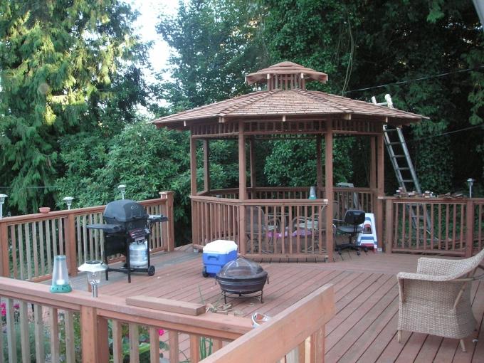 Gazebo Deck on Backyard 7