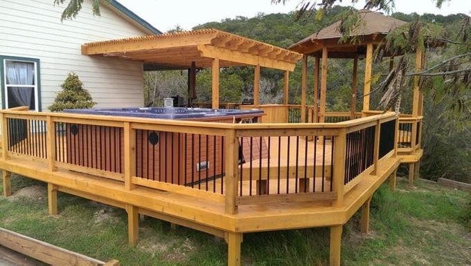 Gazebo Deck on Backyard 8