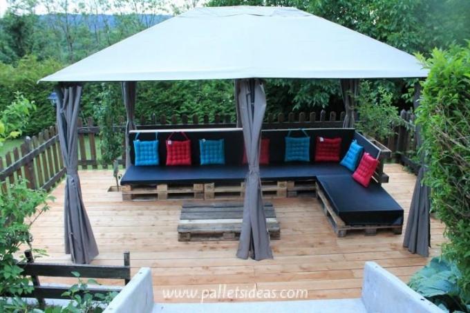 Gazebo Deck on Backyard