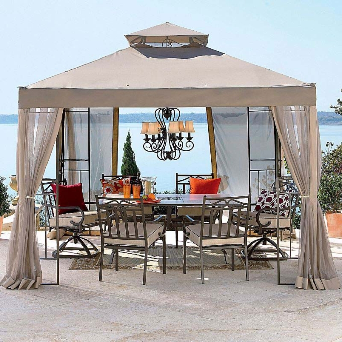 Shaded attached pergola design plans for your home for Outdoor furniture gazebo