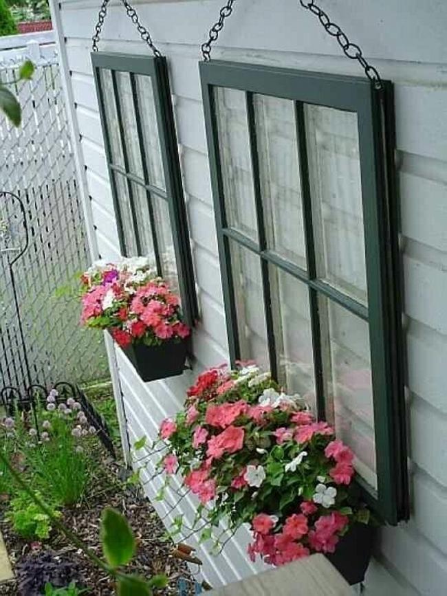 Old Windows For Making Trellises 7