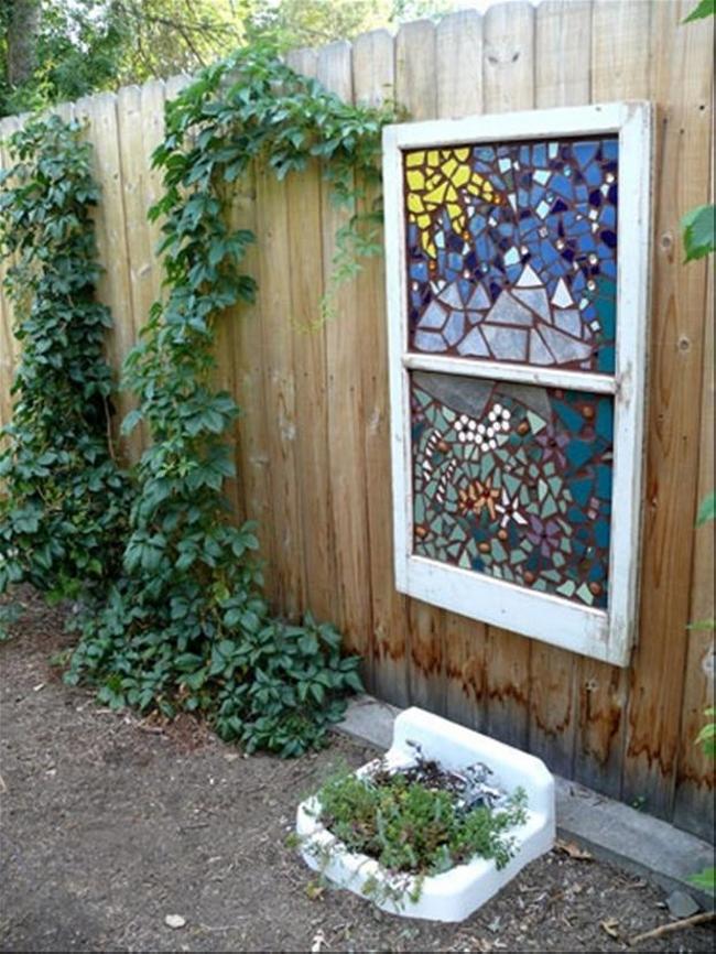 Old Windows For Making Trellises
