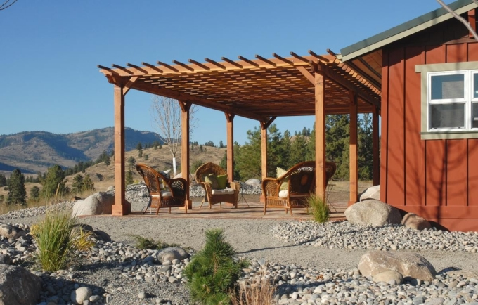 Pergola Attached to House 1