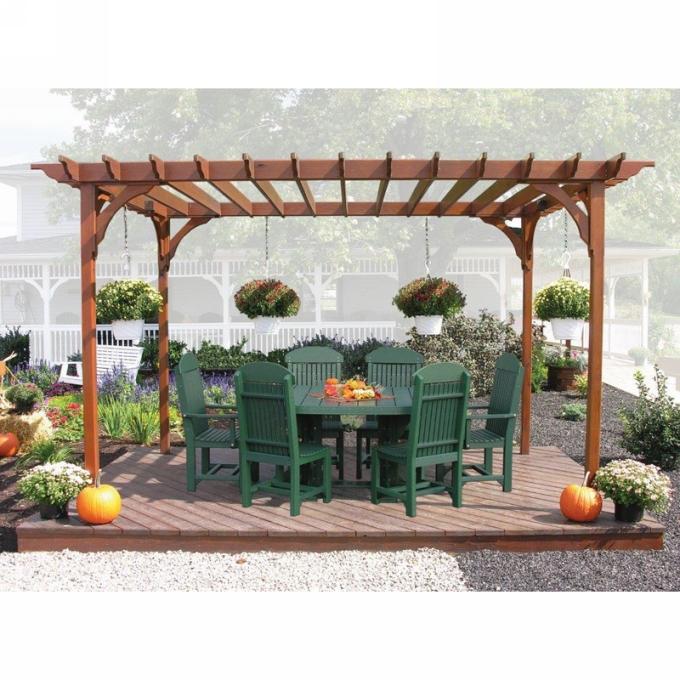 Pergola Outdoor Dining Set 9