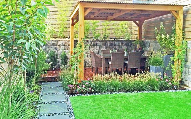 Garden in Pergola Deck