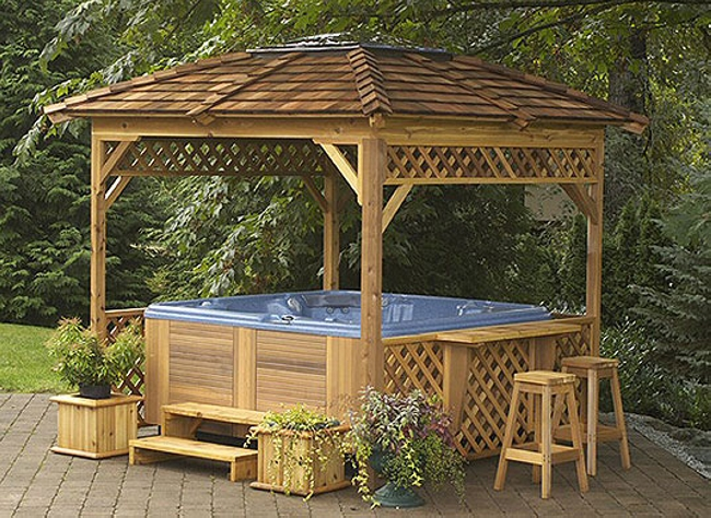 Private Hot Tub Gazebo Ideas 10