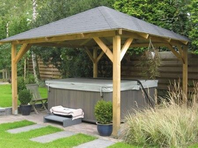 Private Hot Tub Gazebo Ideas 12