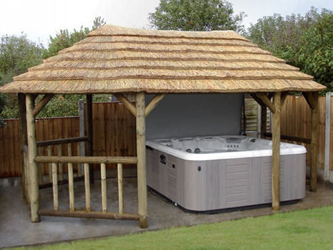 Private Hot Tub Gazebo Ideas 13