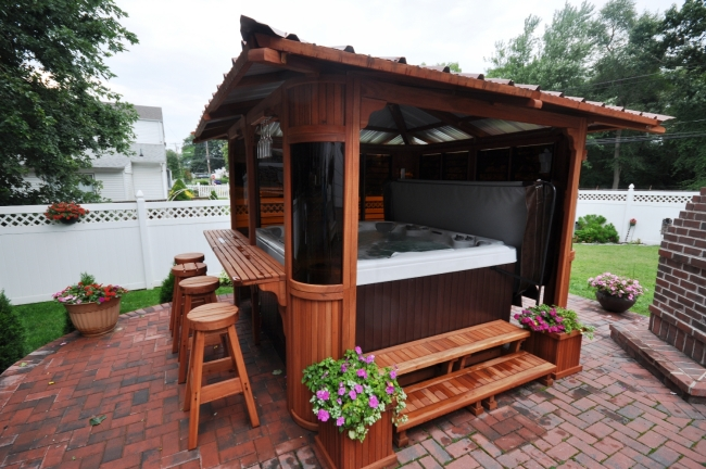 Private Hot Tub Gazebo Ideas 2
