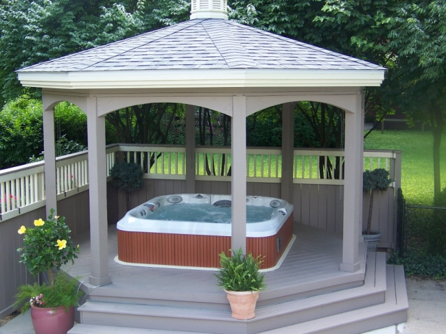 Private Hot Tub Gazebo Ideas 4