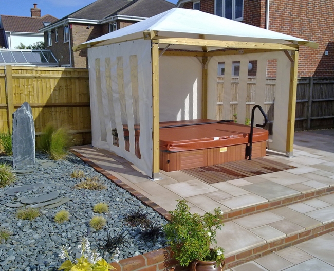Private Hot Tub Gazebo Ideas 5
